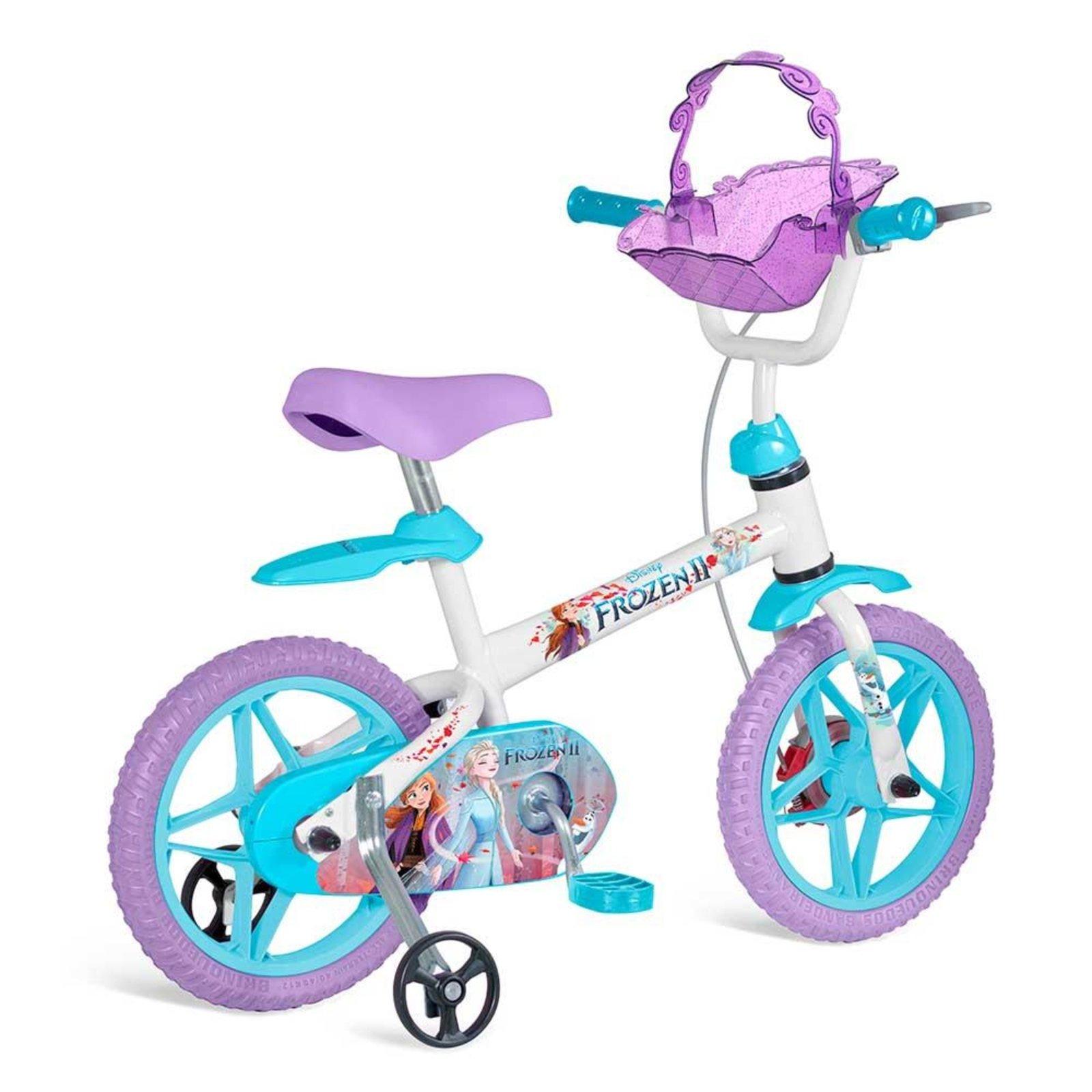 Bicicleta Bandeirante Frozen Aro 12 Rígida 1 Marcha - Lilás
