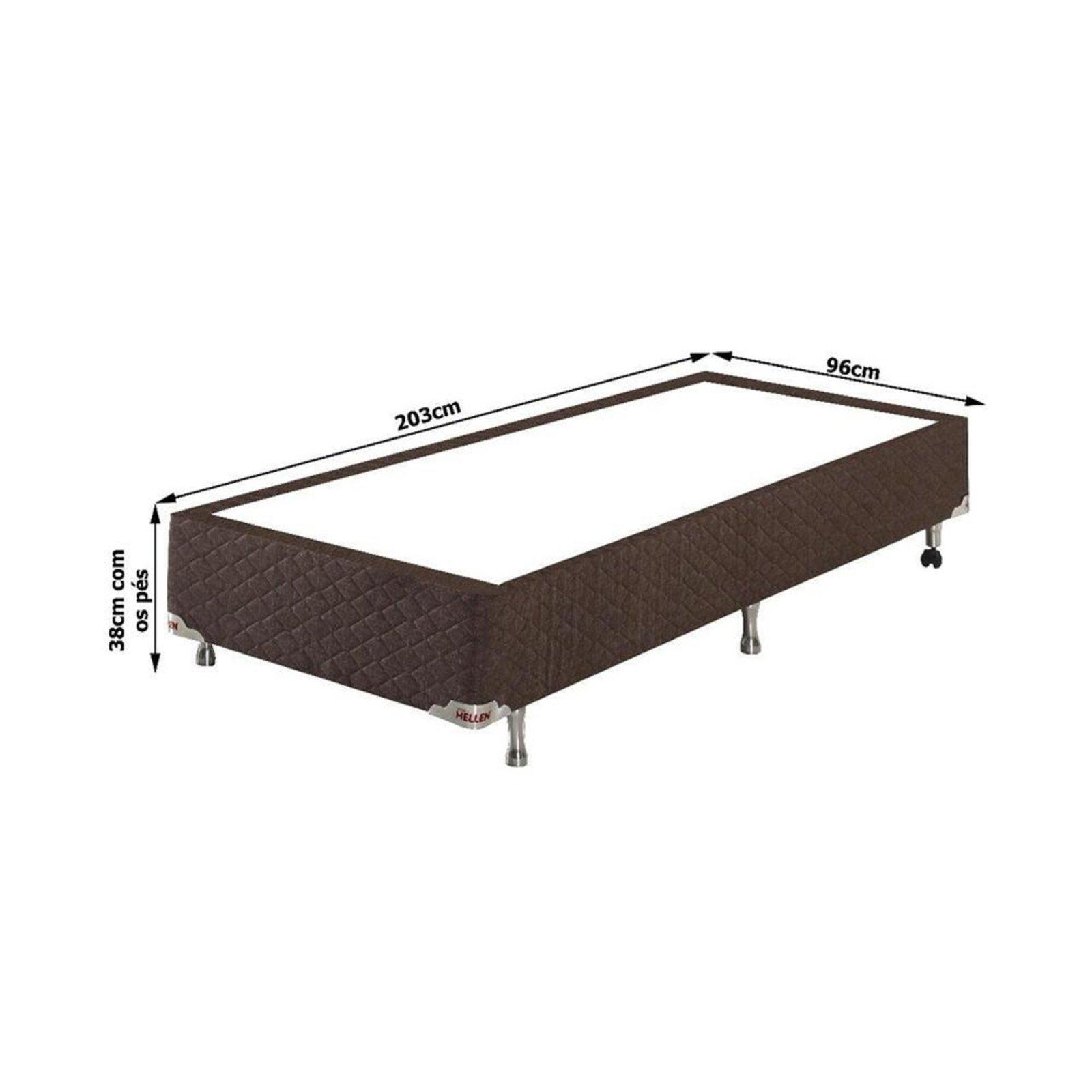 Conjunto Cama Box Solteiro Medida Especial Houston Molas Ensacadas 96x203x72 Colchao Cama Box Compre Agora Dafiti Brasil