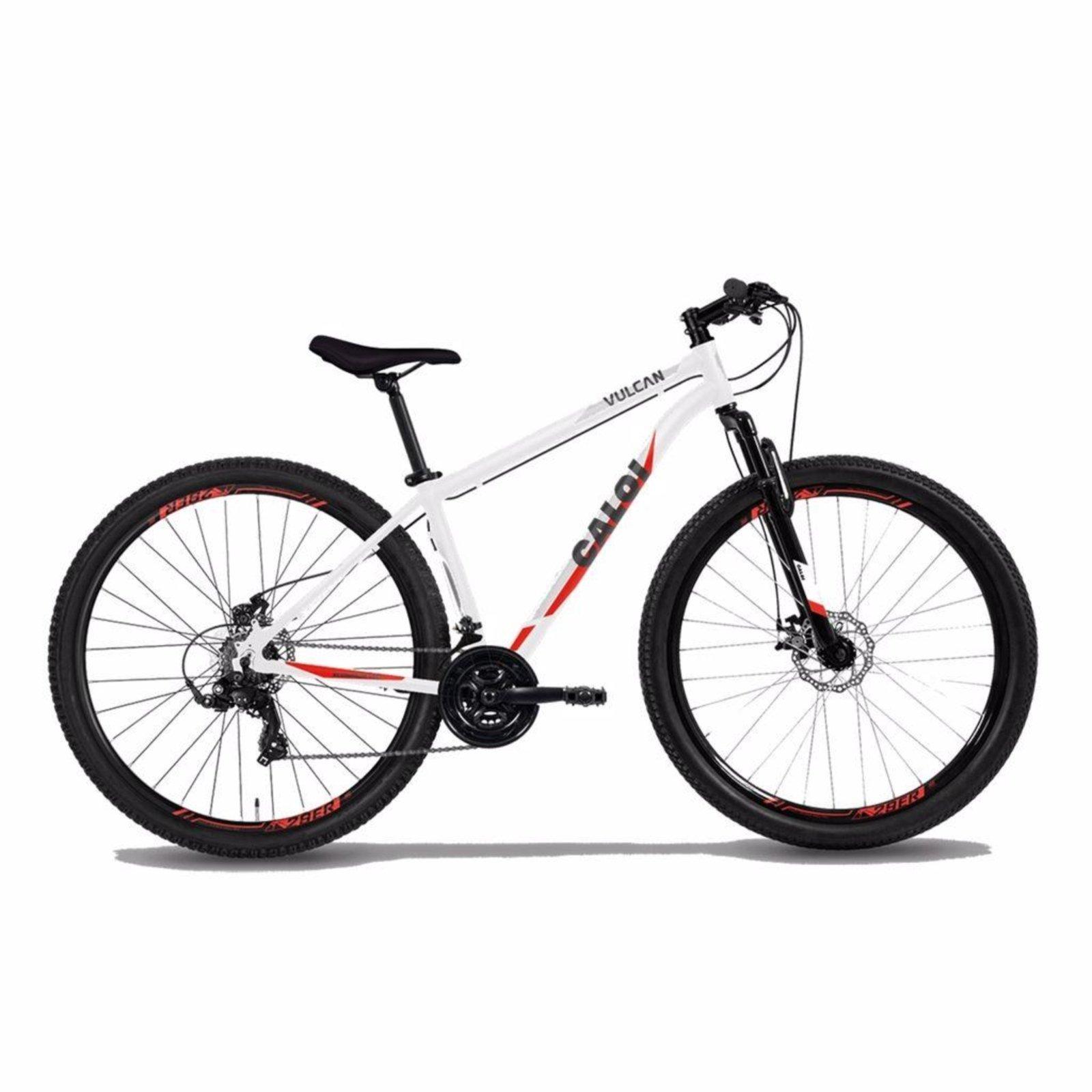 Bicicleta Caloi Vulcan Aro 29 Susp. Dianteira 21 Marchas - Branco