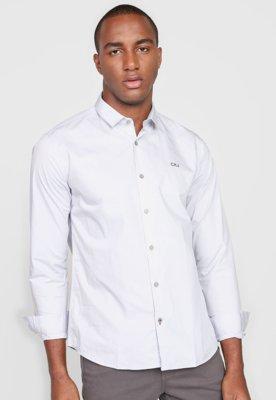 Menor preço em Camisa Calvin Klein Jeans Reta Logo Cinza
