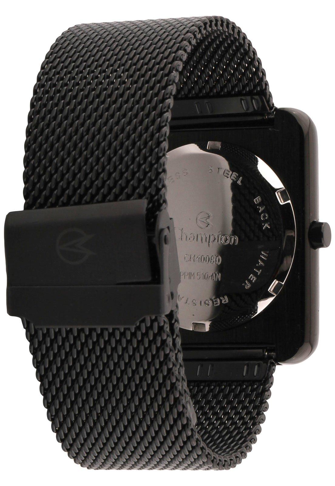 Relógio   Champion CH40080D Preto - Compre Agora