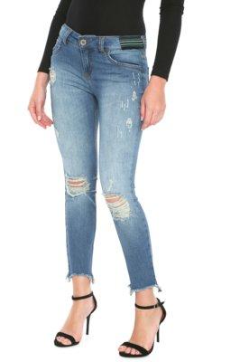 Menor preço em Calça Jeans Colcci Skinny Cropped Azul