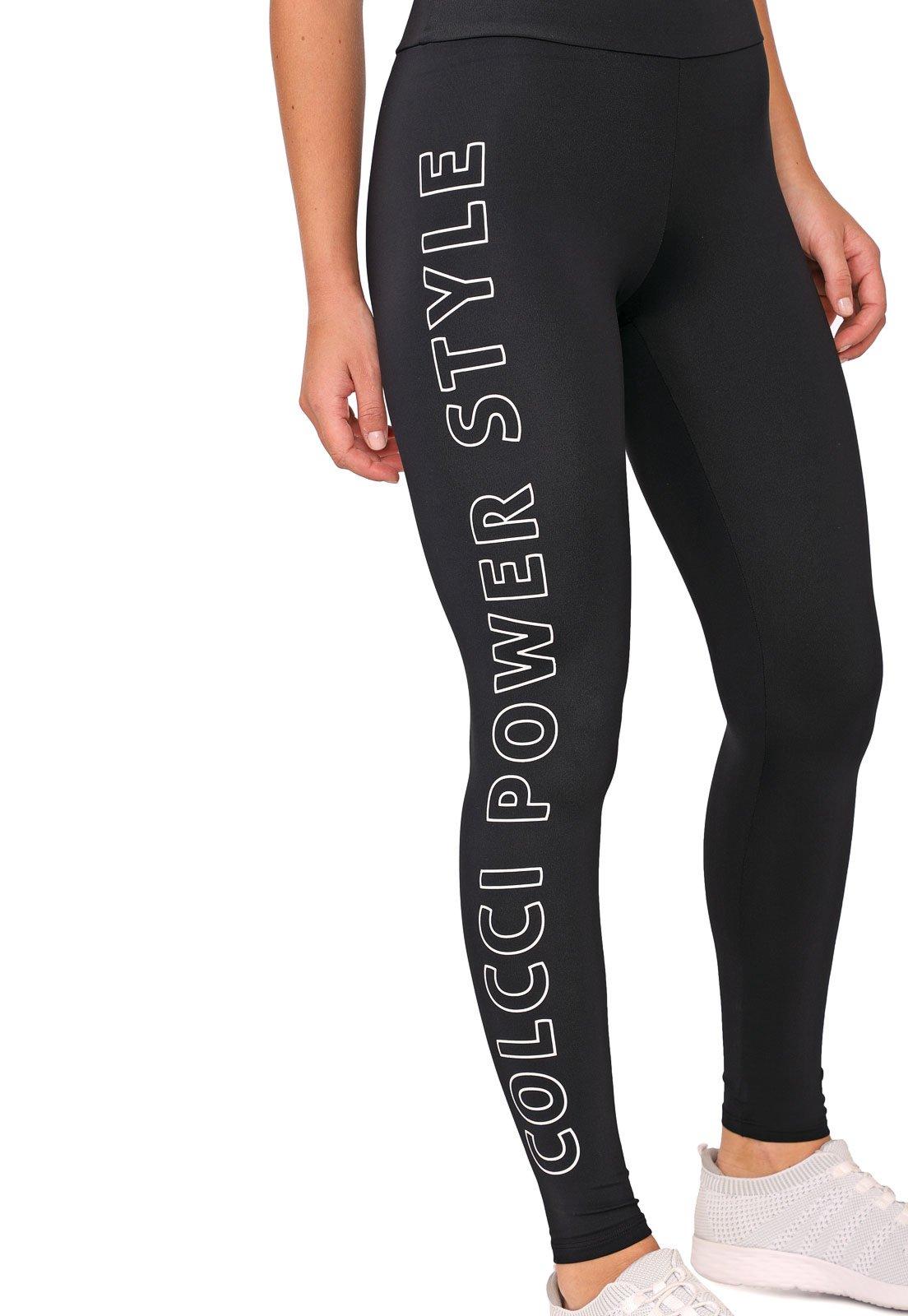 Legging Colcci Fitness Lettering Preta - Compre Agora