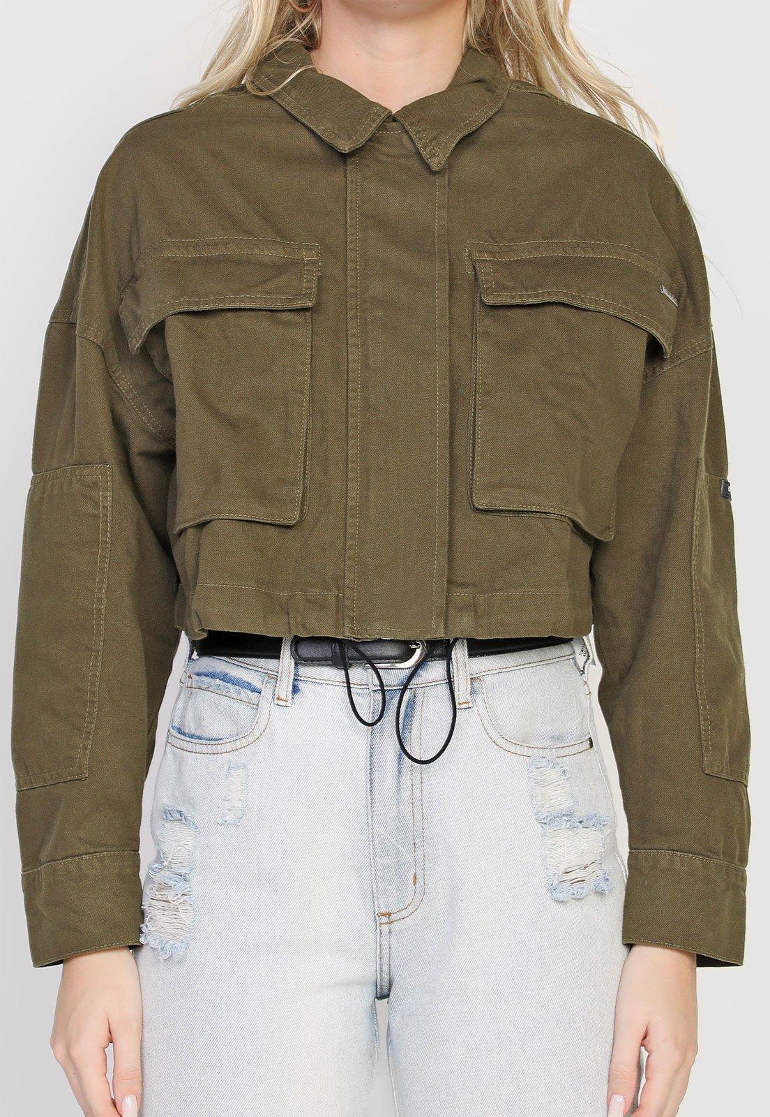 Jaqueta de sarja verde, da Colcci