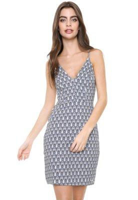 Menor preço em Vestido Colcci Curto Estampado Branco/Azul