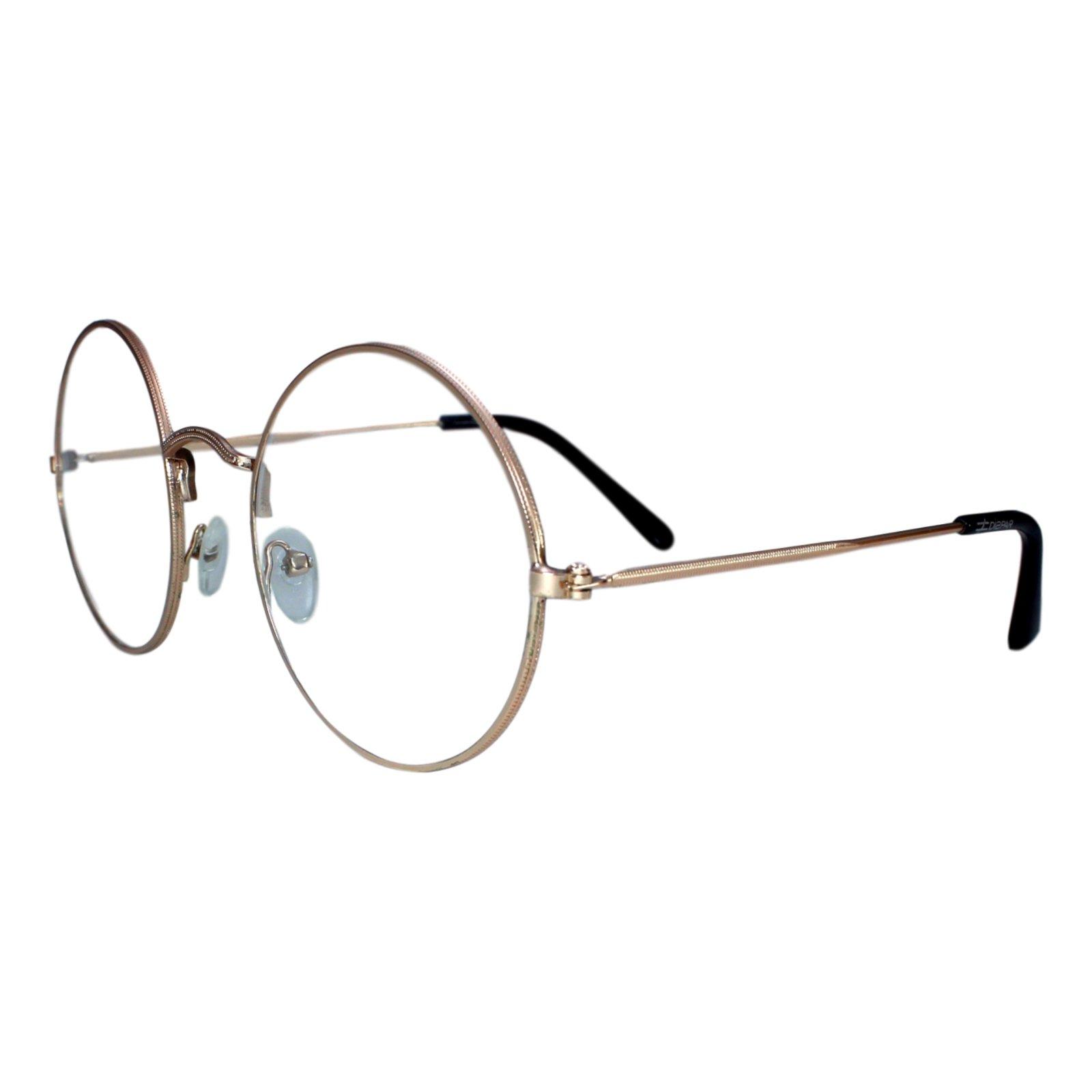Armação Para óculos Díspar D1646 Redondo Grande Dourado Compre Agora Dafiti Brasil
