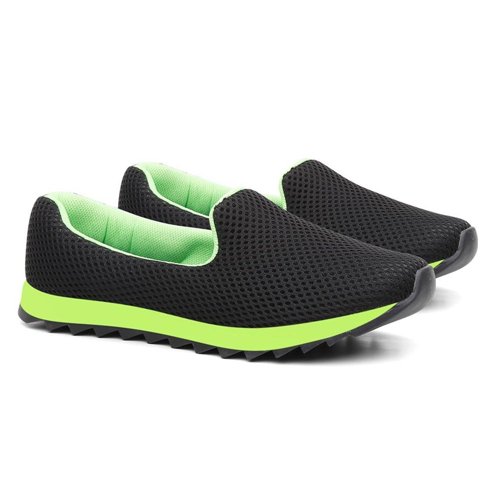 Tênis Feminino Perfuros Respirável Confortável Caminhada Verde 40 - Marca Delik