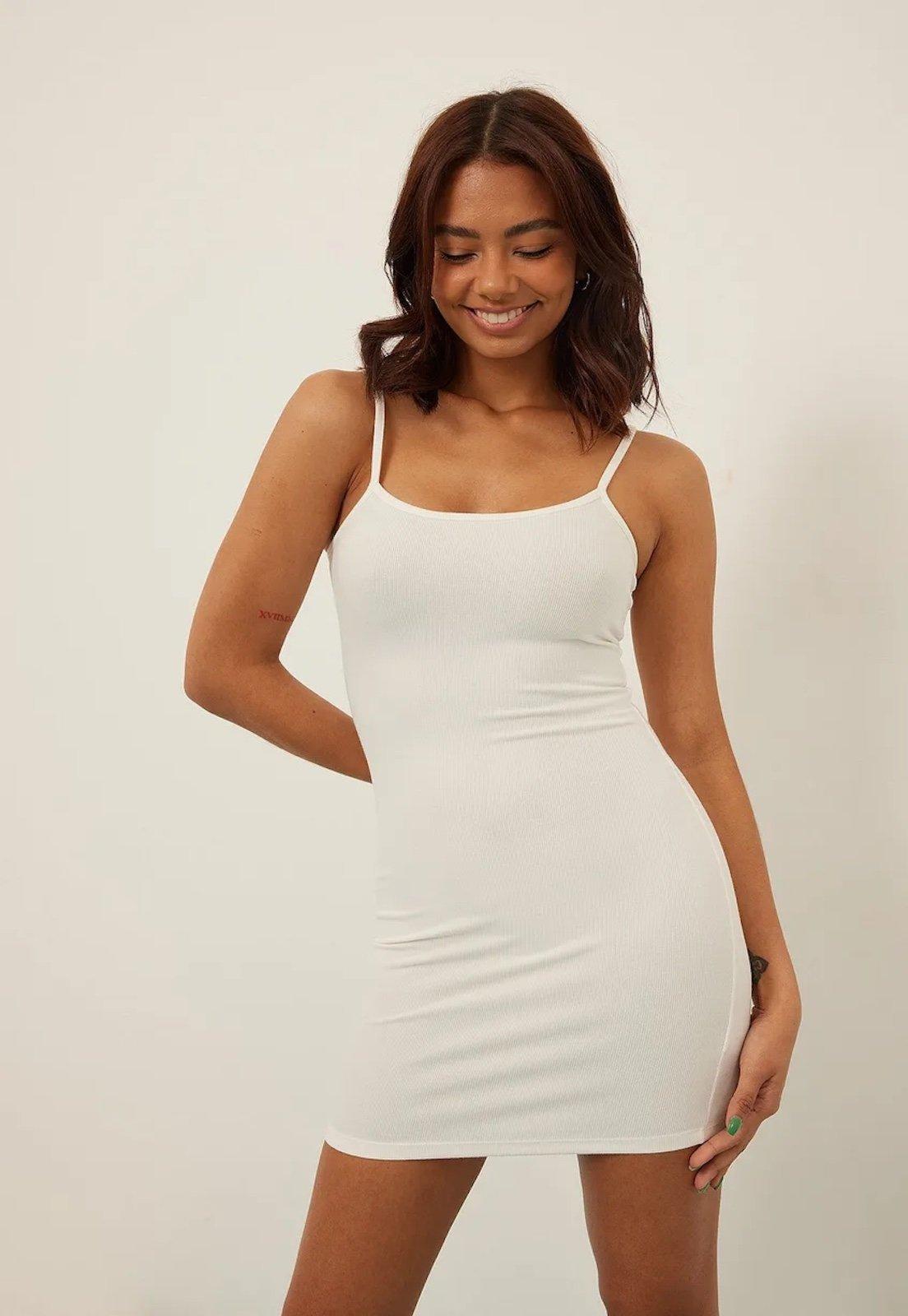 Vestido Diluxo Alcinha Tubinho Branco - Marca Diluxo