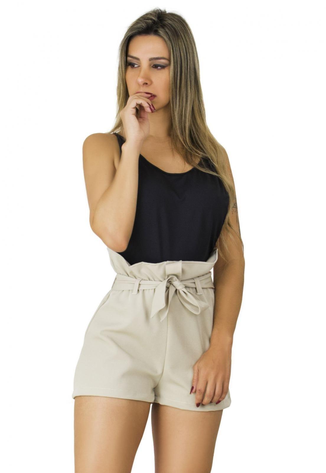 Short Clochard Dress Code Moda Bege - Marca Dress Code Moda