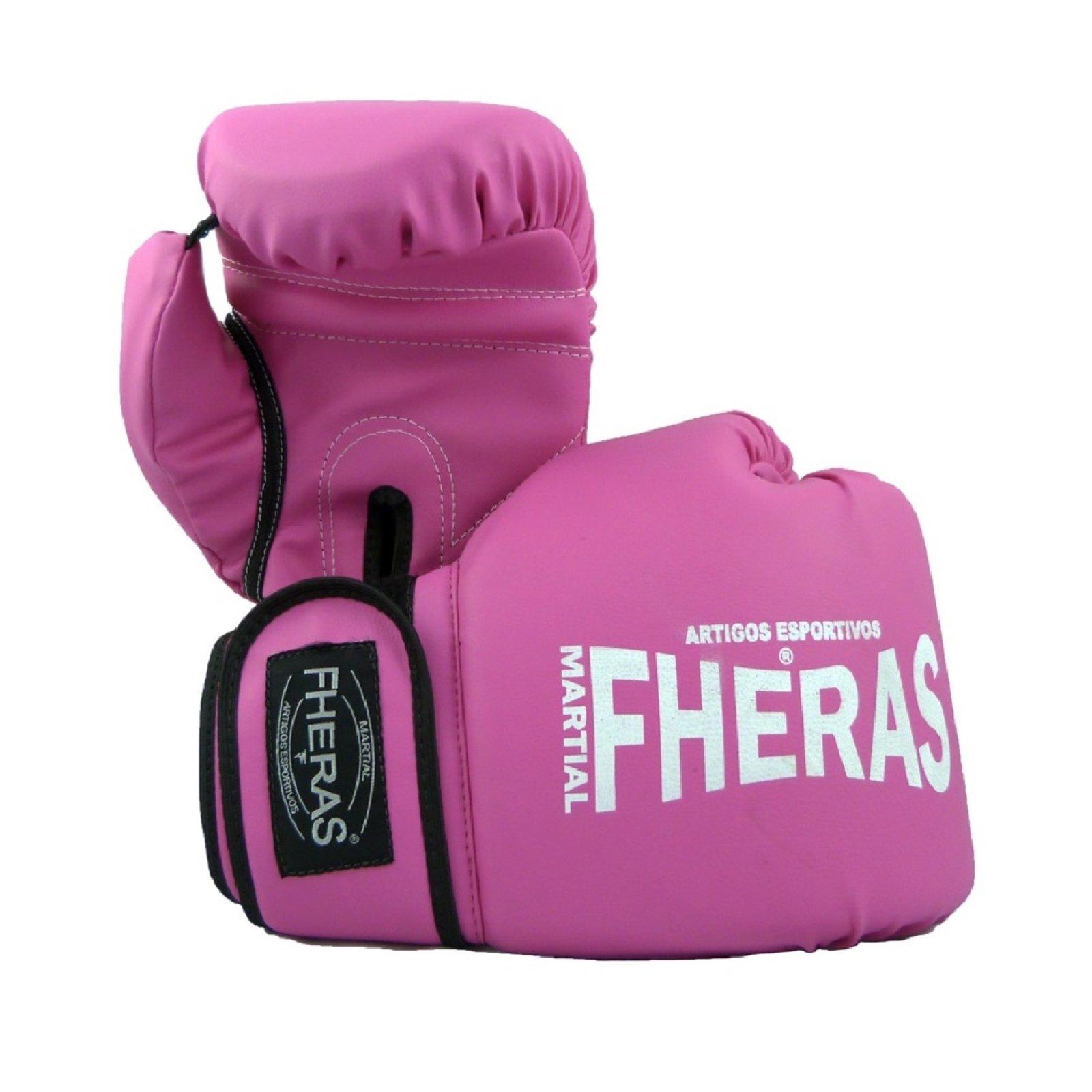 Kit Boxe Muay Thai Fheras New Trade Luva Bucal Caneleira Anatómica Rosa 016 - Compre Agora