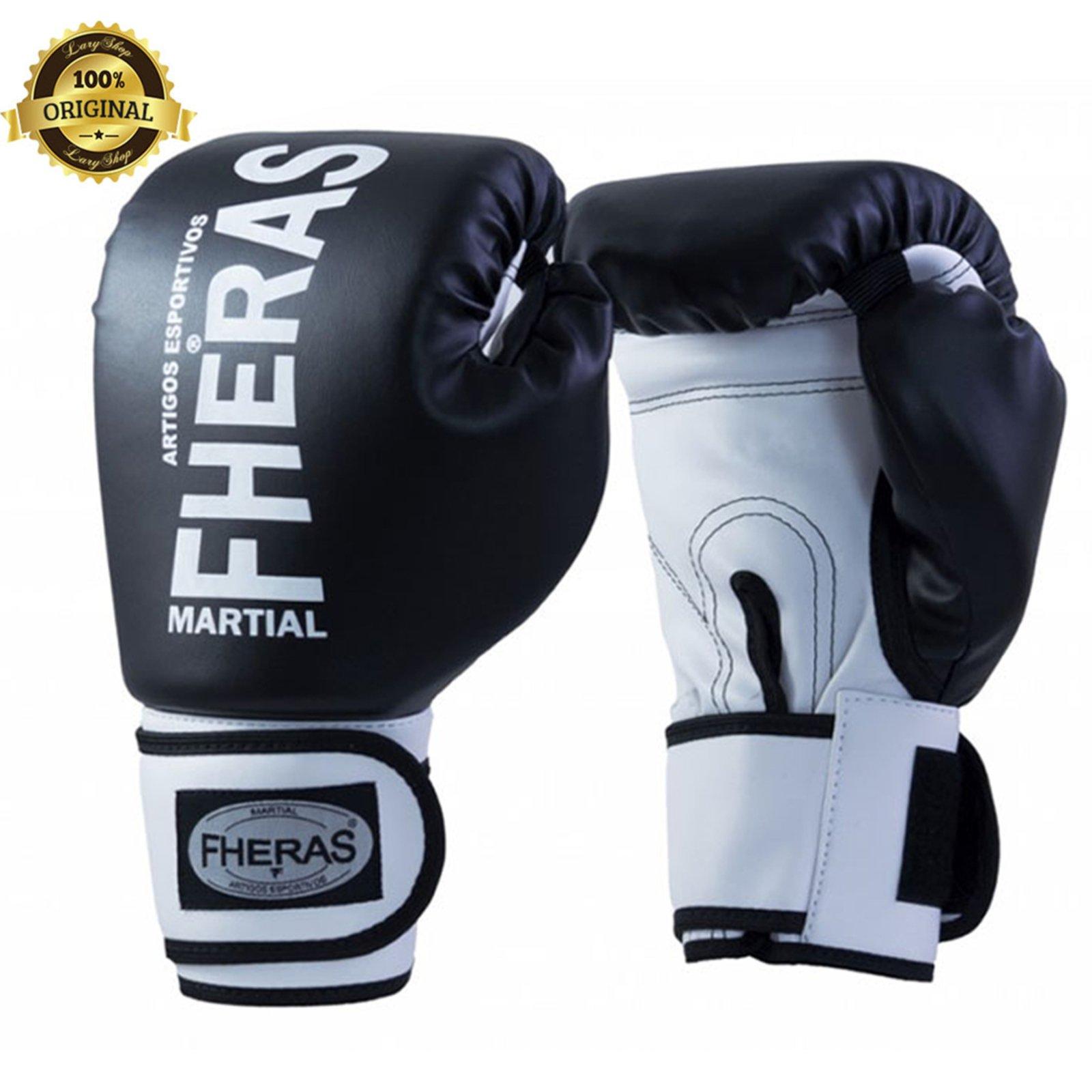 Luva Boxe Muay Thai Fheras New Orion Pro Preto Branco Compre