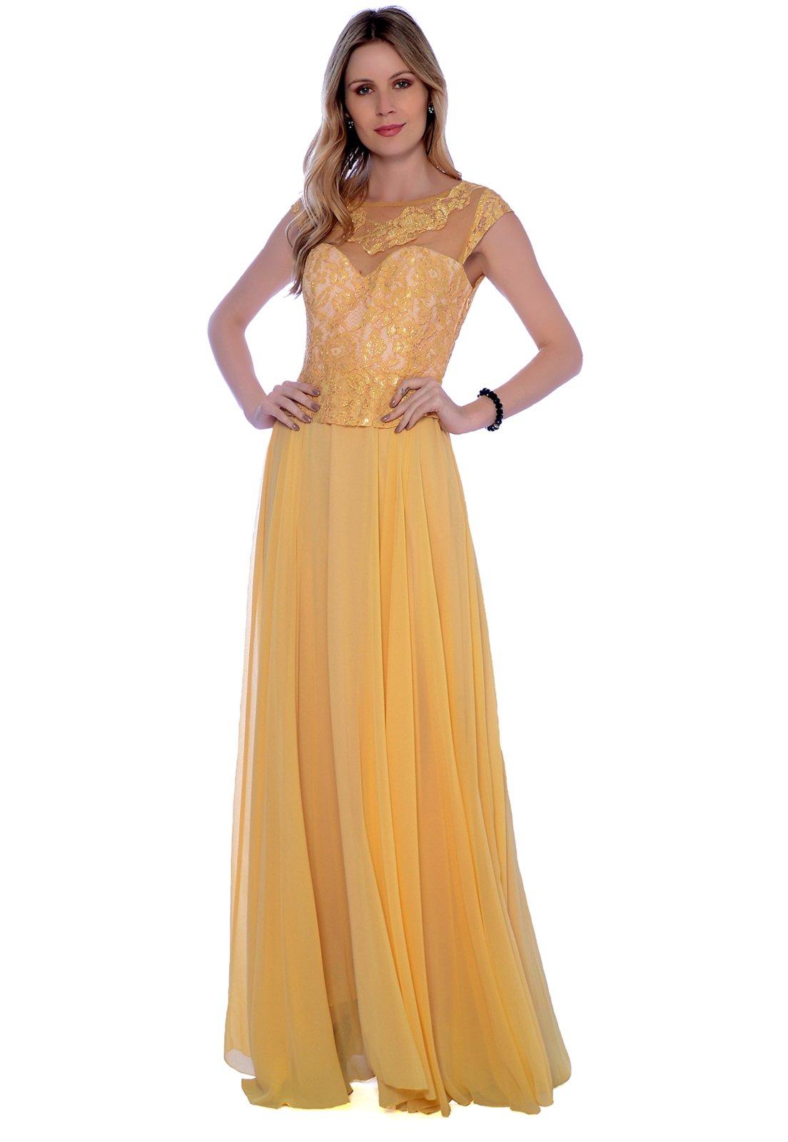 Vestido Gowara Festa Amarelo