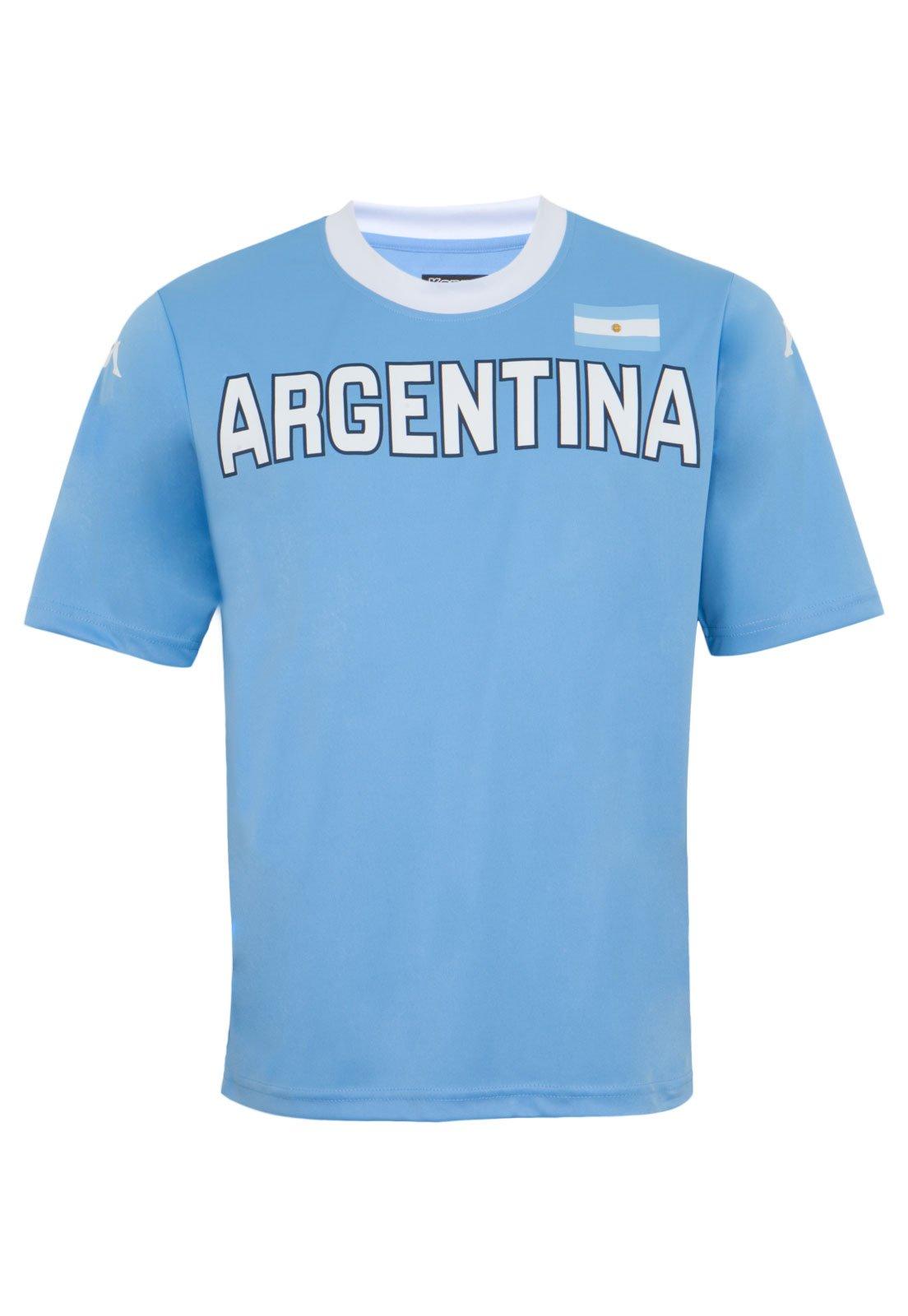 Calumnia Lavandería a monedas Maldición  Camiseta Kappa Argentina Azul - Compre Agora | Dafiti Brasil