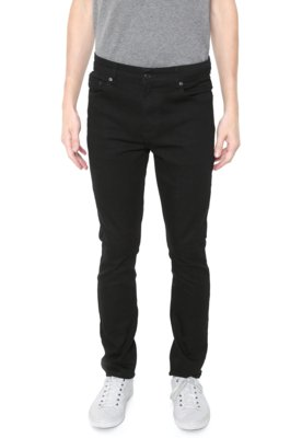 Menor preço em Calça Jeans Lacoste Slim Lisa Preta