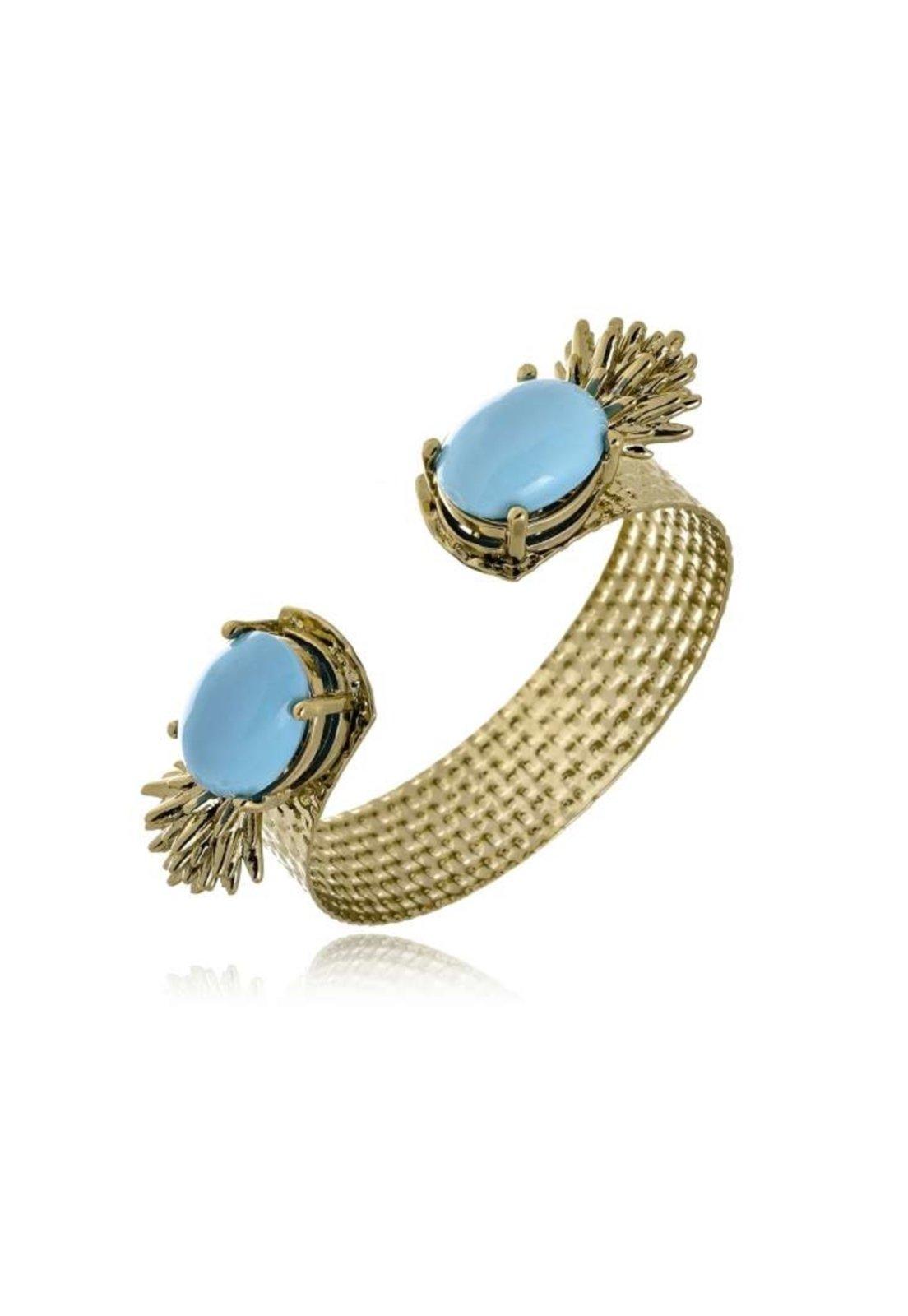 Bracelete Le Diamond Carmem Aro Batido Dourado - Marca Le Diamond