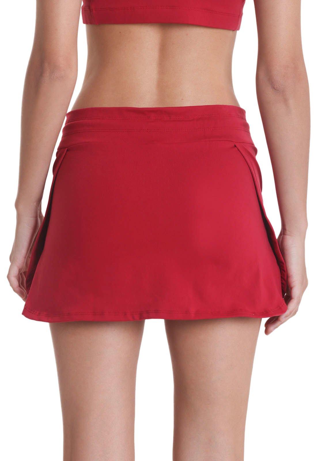 Shorts Saia Supplex - Vermelho - Líquido - Compre Agora