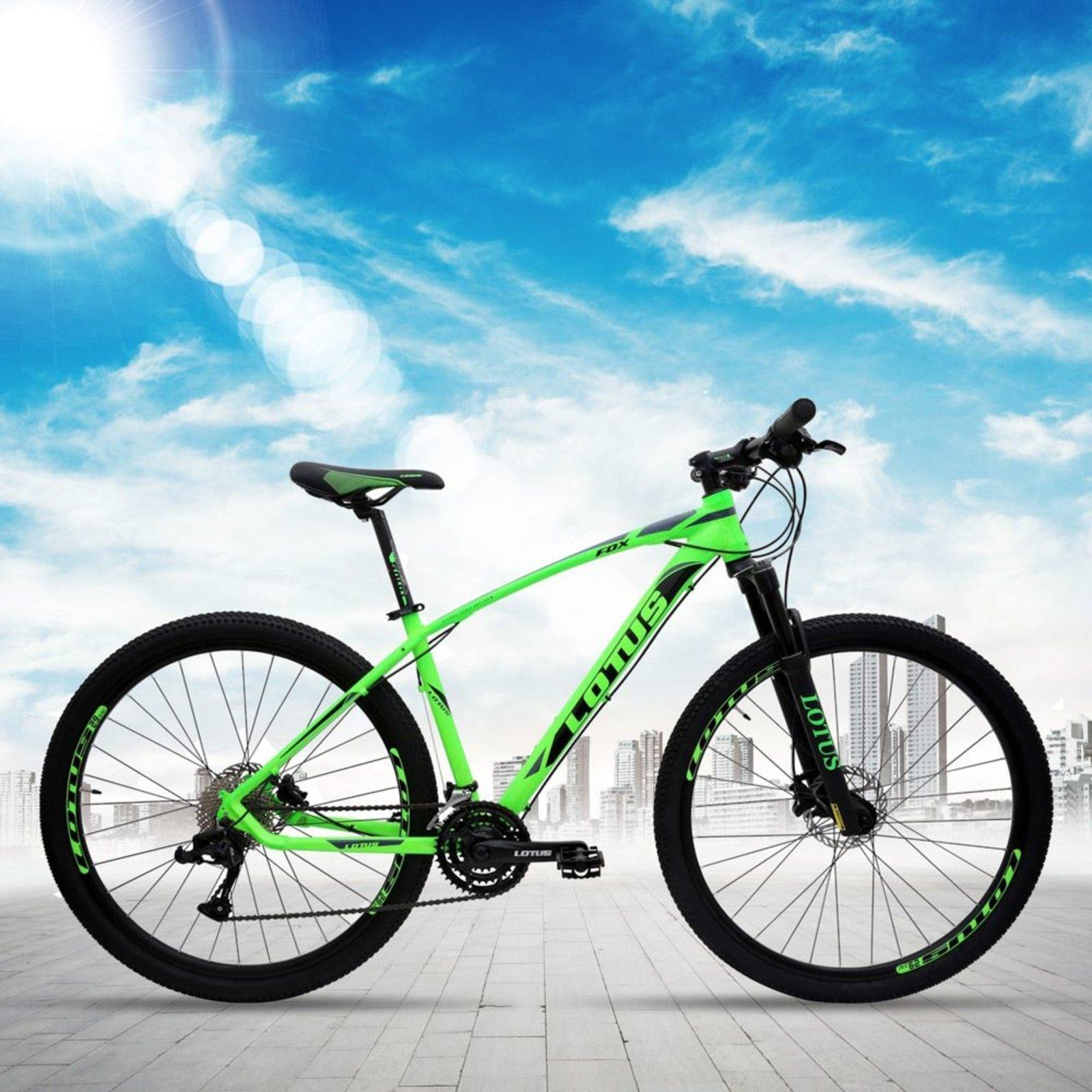 Bicicleta Aro 29 Freio Hidráulico Fox MTB Quadro 21 24v Verde Preto - Lotus - Compre Agora