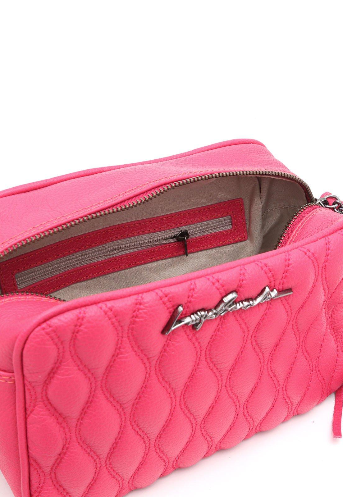 Bolsa Couro Luiza Barcelos Matelassê Pink - Compre Agora