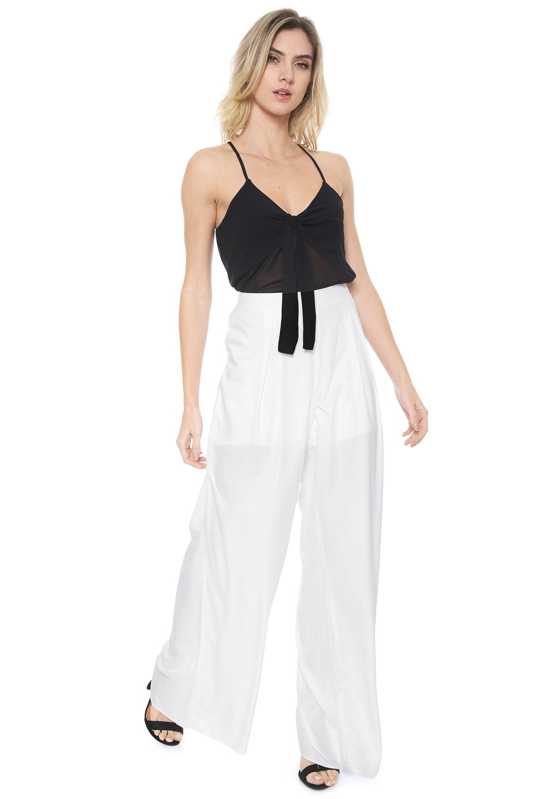 Calça Malwee Pantalona Básica Branca - Marca Malwee