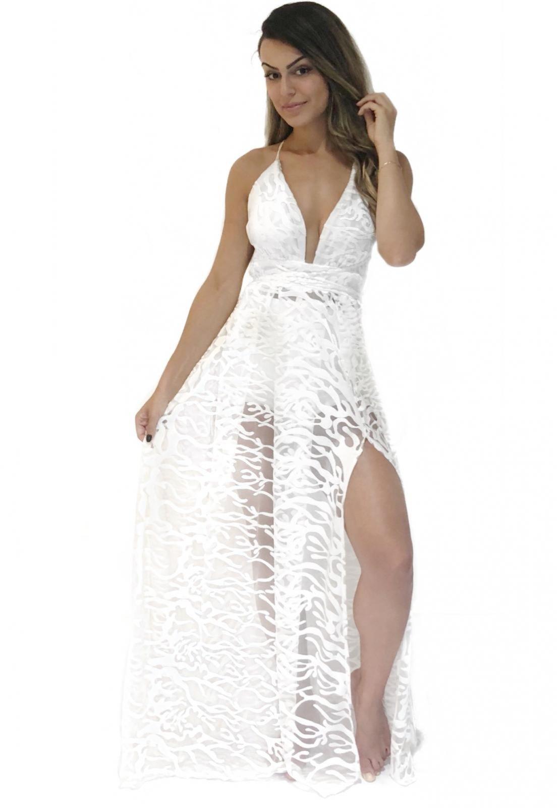Vestido Miesse Reveillon Tule Bordado Branco - Marca Miesse