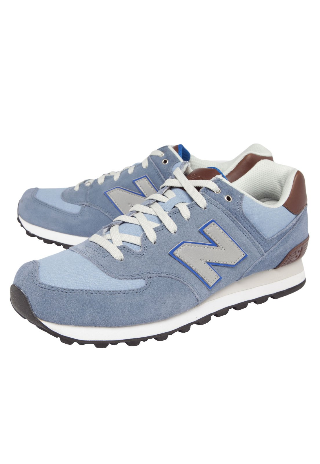new balance 574 azul e rosa