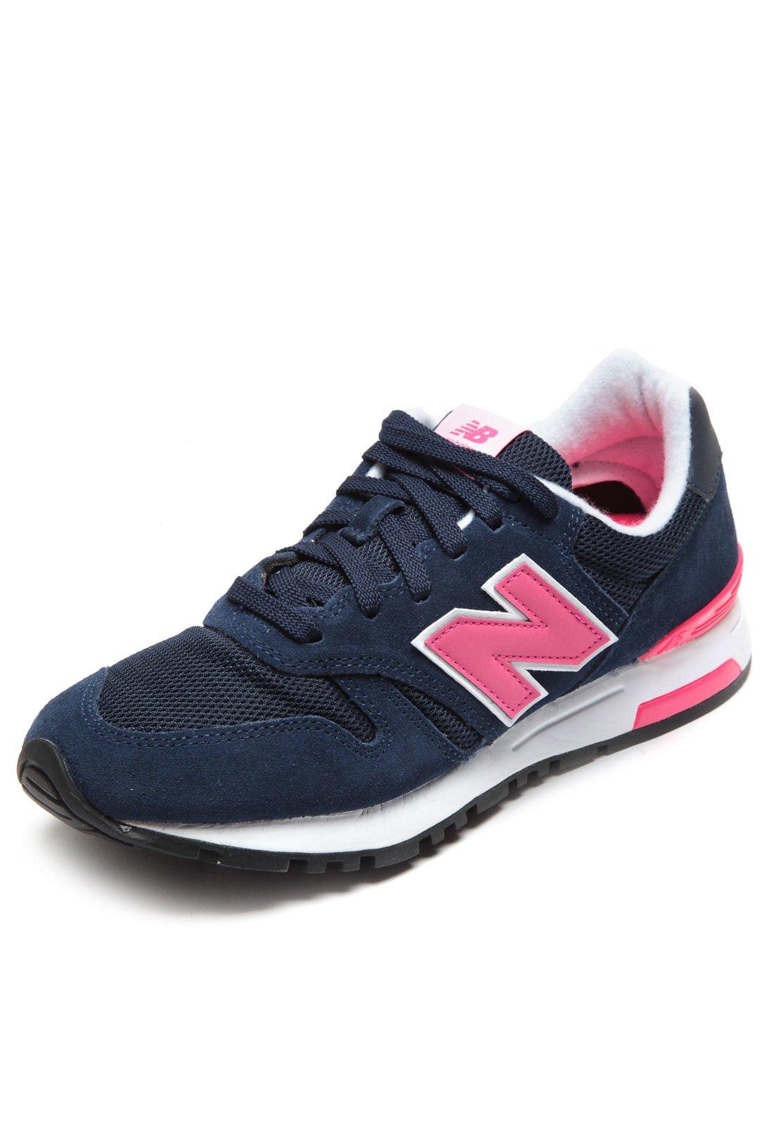 new balance azul marinho e rosa