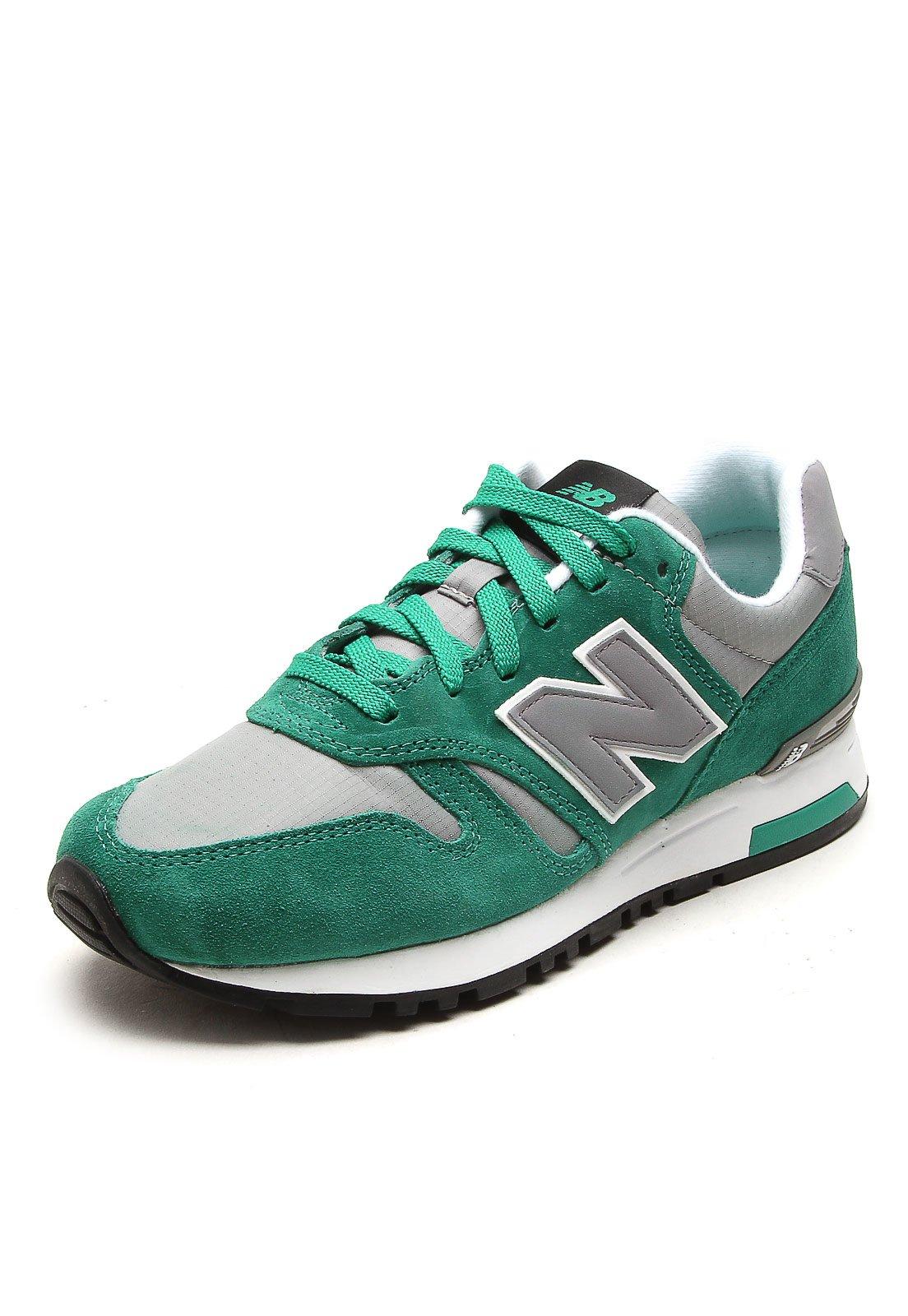 new balance verde e cinza