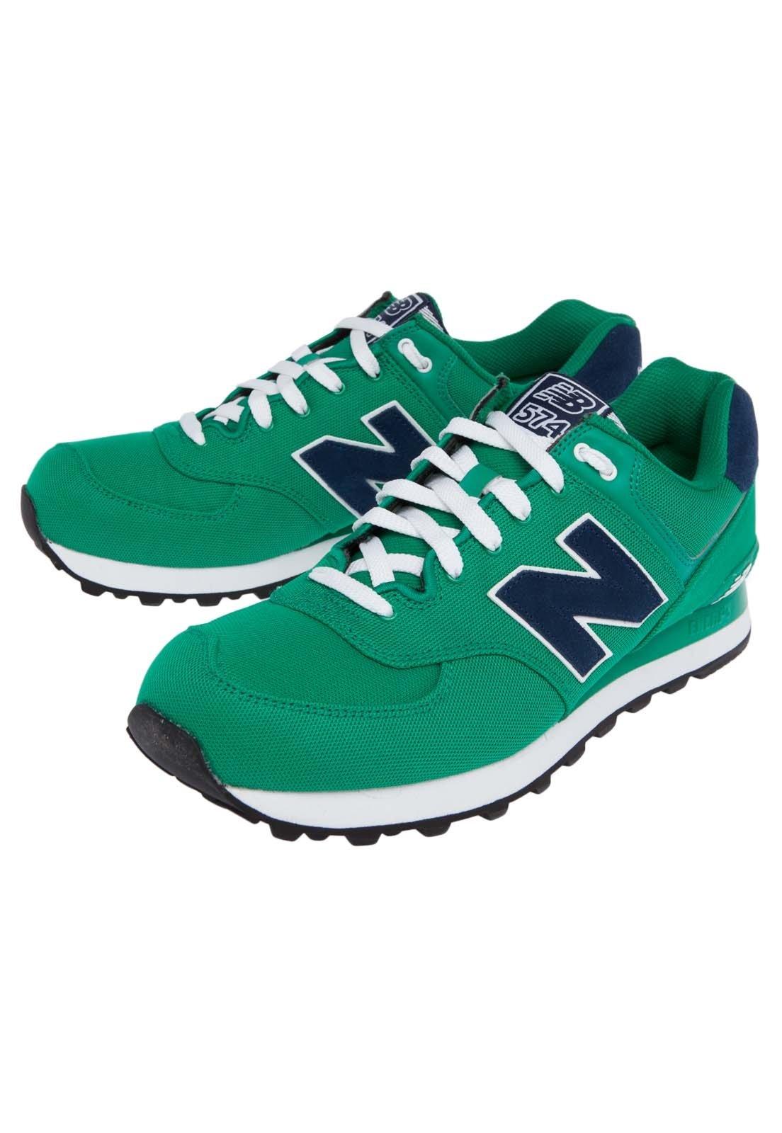 new balance azul e verde