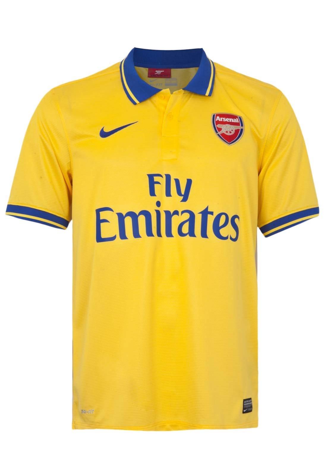proveedor oficial la mejor actitud estilo novedoso Camisa Nike Arsenal Away Amarela - Compre Agora | Kanui Brasil