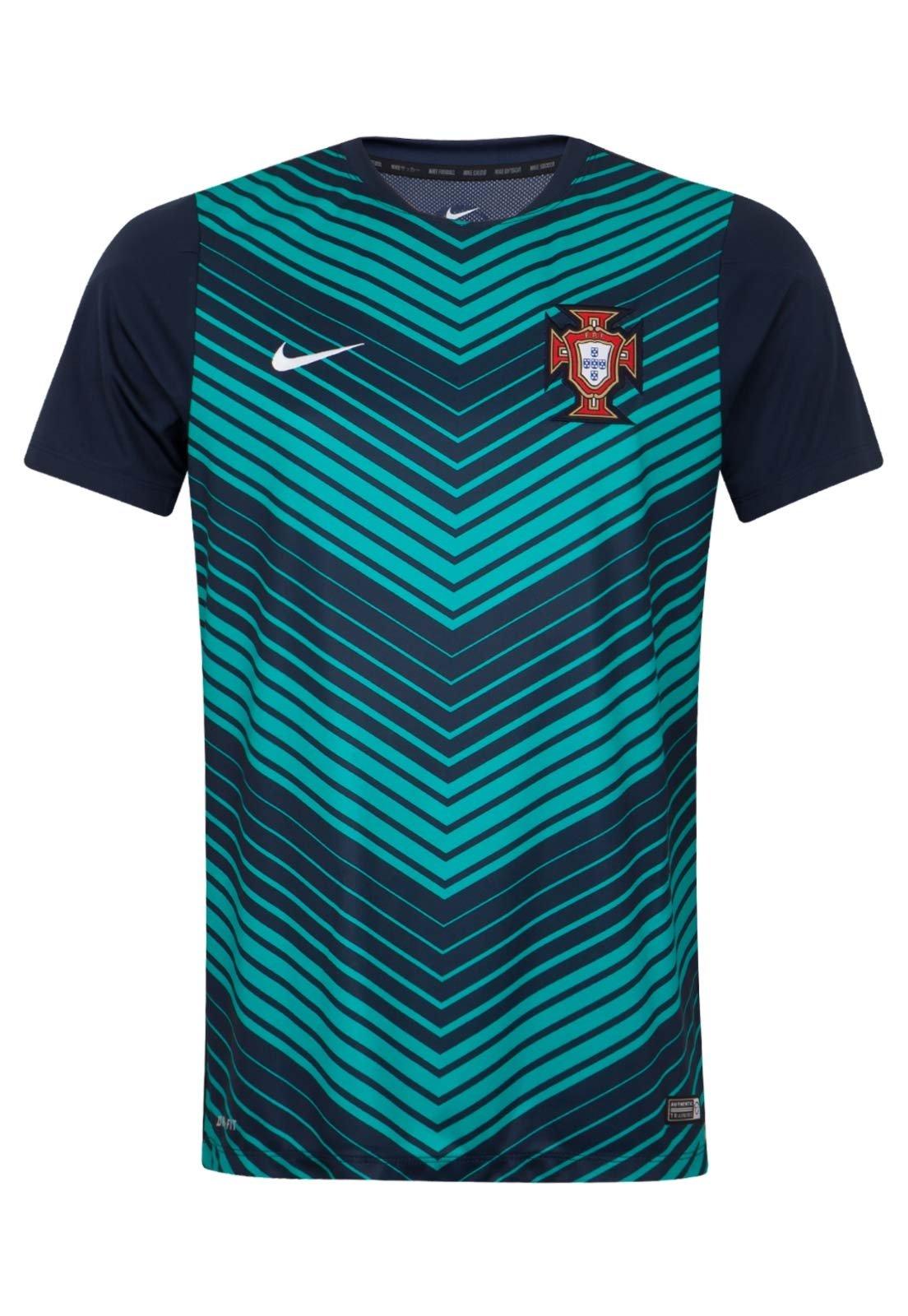 Escrutinio Heredero bobina  Camisa Nike Portugal Treino Azul - Compre Agora | Dafiti Brasil