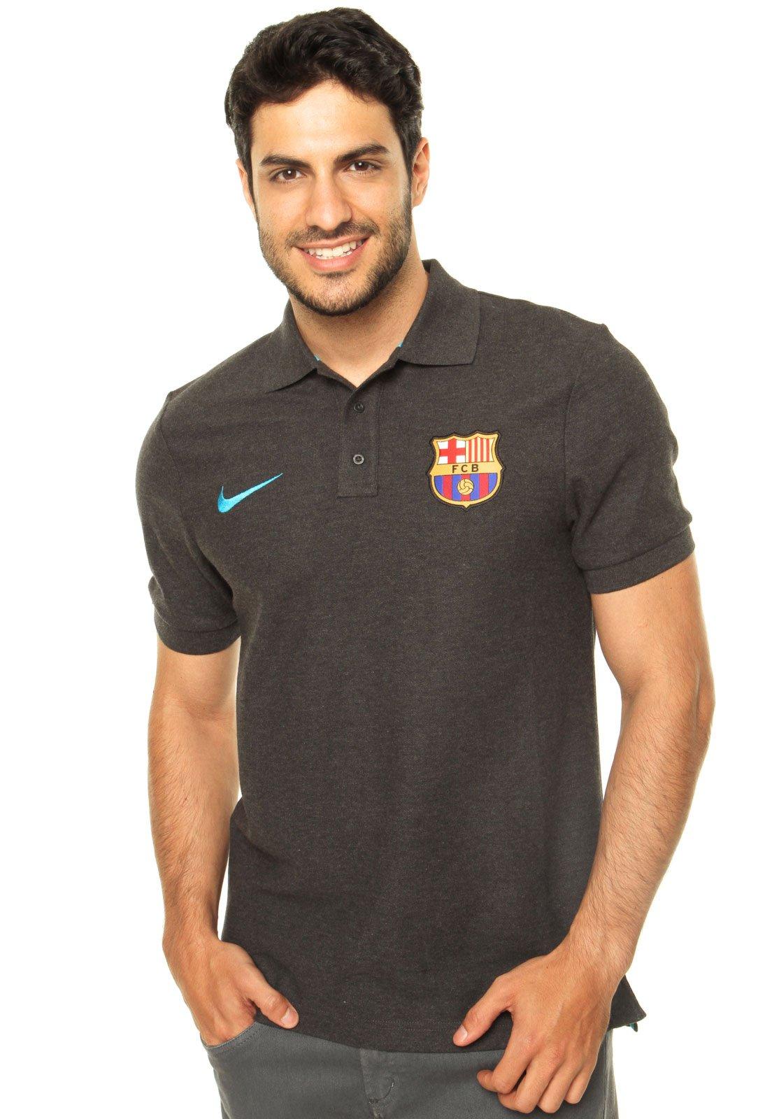 Aniquilar Venta ambulante Pantano  Camisa Polo Nike Matchup Barcelona Core Cinza - Compre Agora   Dafiti Brasil