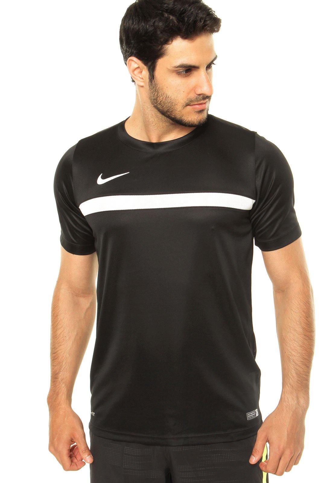 condado traductor Novedad  Camiseta Nike Academy Training 1 Preta - Compre Agora | Dafiti Brasil