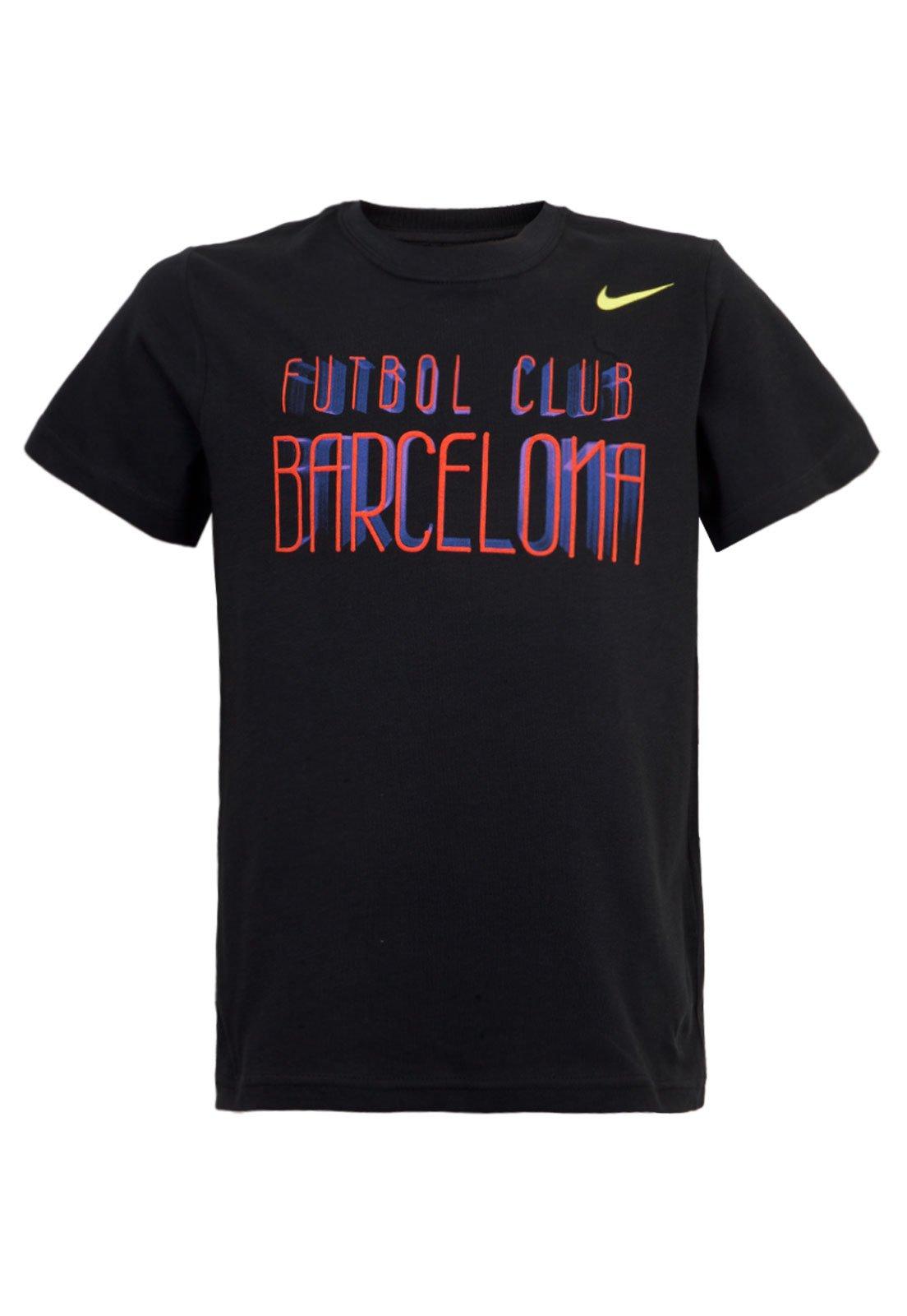 Camiseta Nike Barcelona Infantil Preta Compre Agora Dafiti Brasil