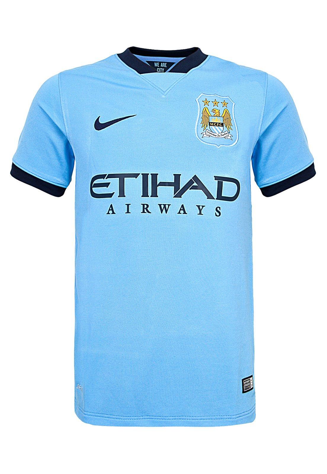 Camiseta Nike Manchester City Infantil Ss Home Stadium Azul Compre Agora Kanui Brasil