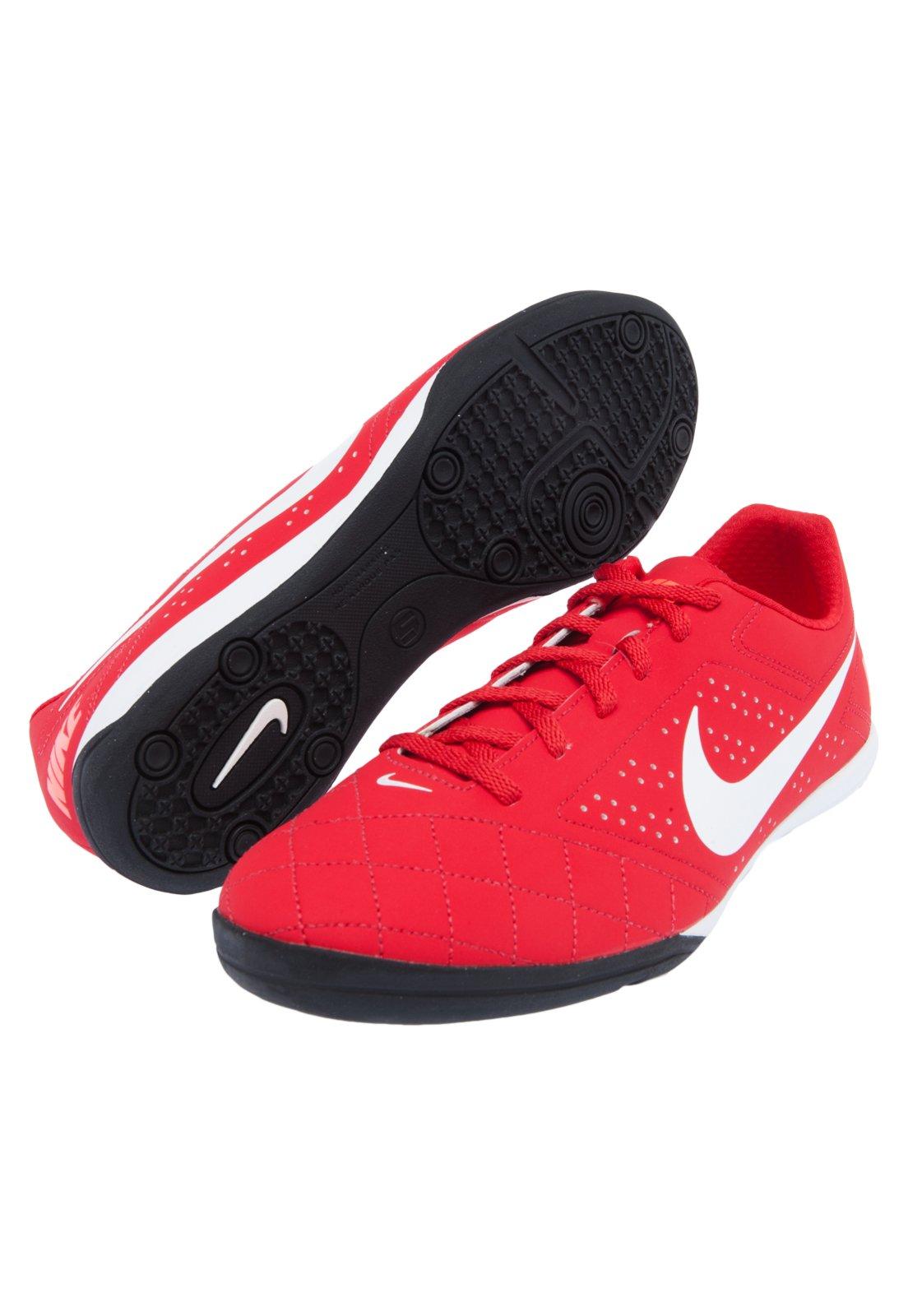 Chuteira Futsal Nike Beco 2 Futsal Branco e Azul