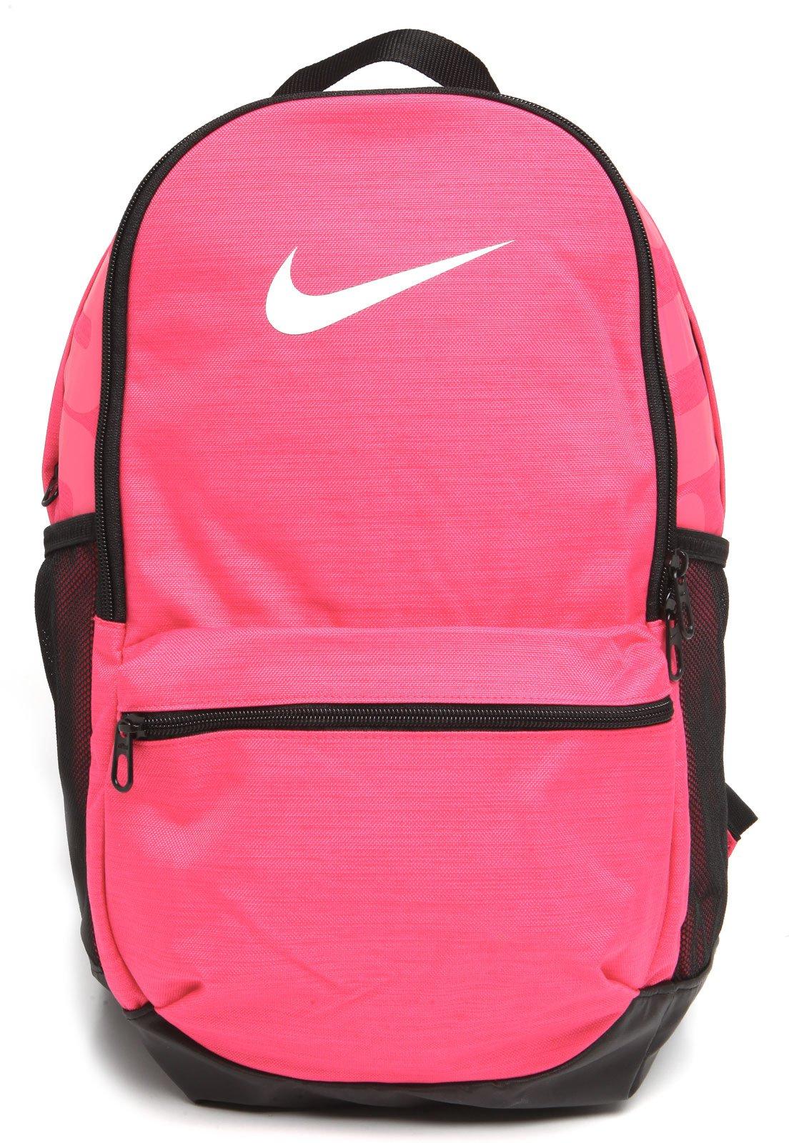 Investigación Juventud Percibir  Mochila Nike Brasilia Rosa/Preta - Compre Agora   Dafiti Brasil