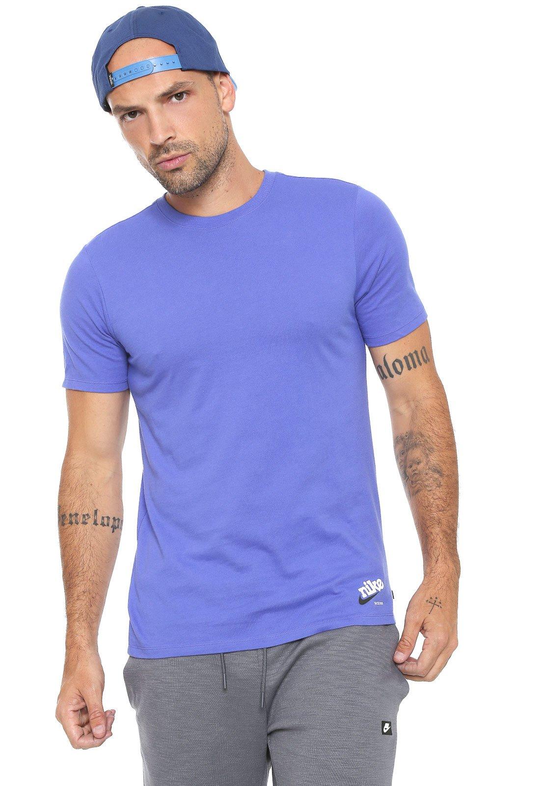 Están deprimidos Comercial gusto  Camiseta Nike SB Estampada Roxa - Compre Agora | Kanui Brasil