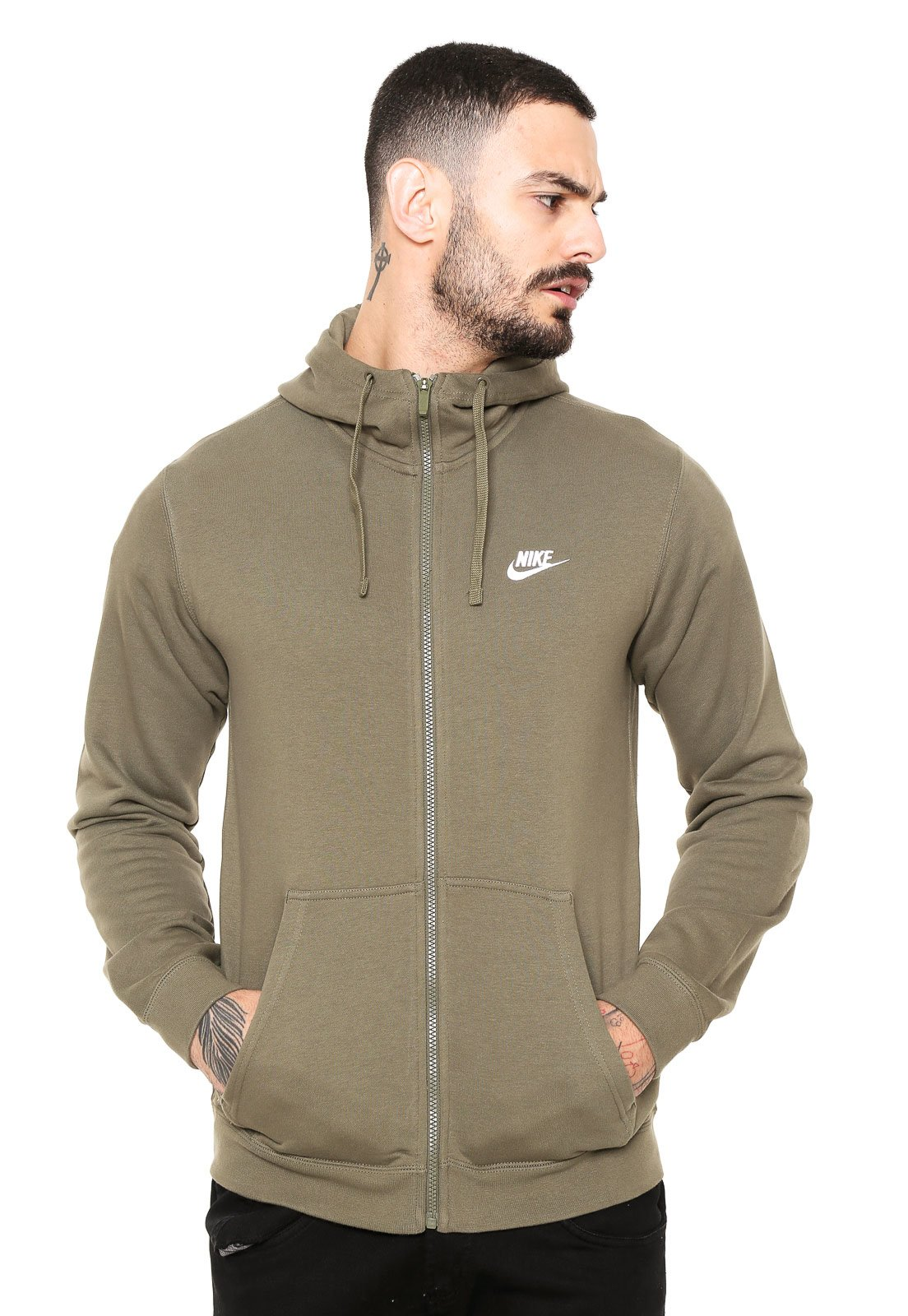 de radio presentar  Jaqueta Nike Sportswear Hoodie FZ Verde - Compre Agora   Kanui Brasil