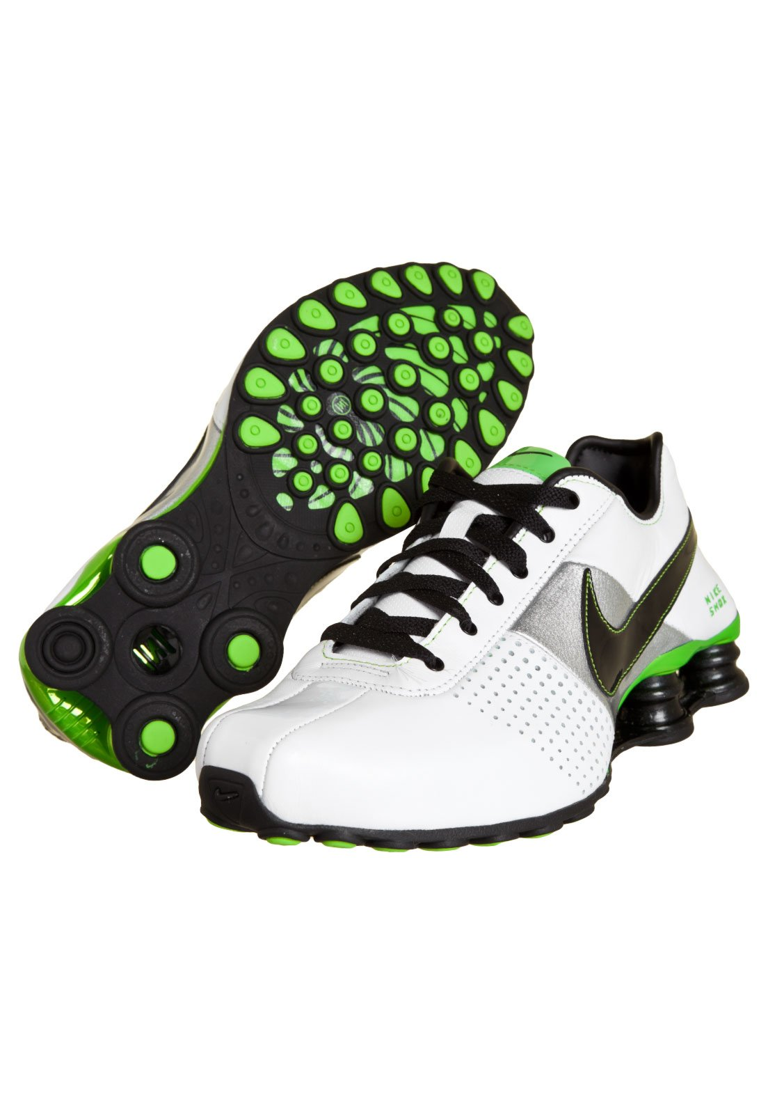 tenis nike shox deliver preto e verde