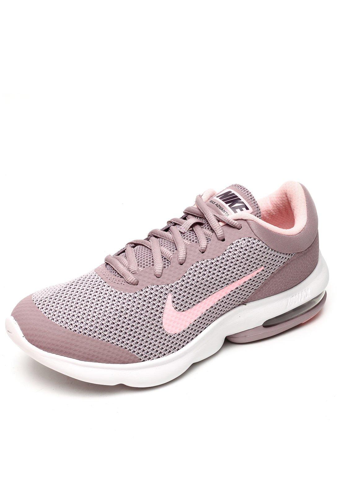 nike air max feminino branco com rosa cinza
