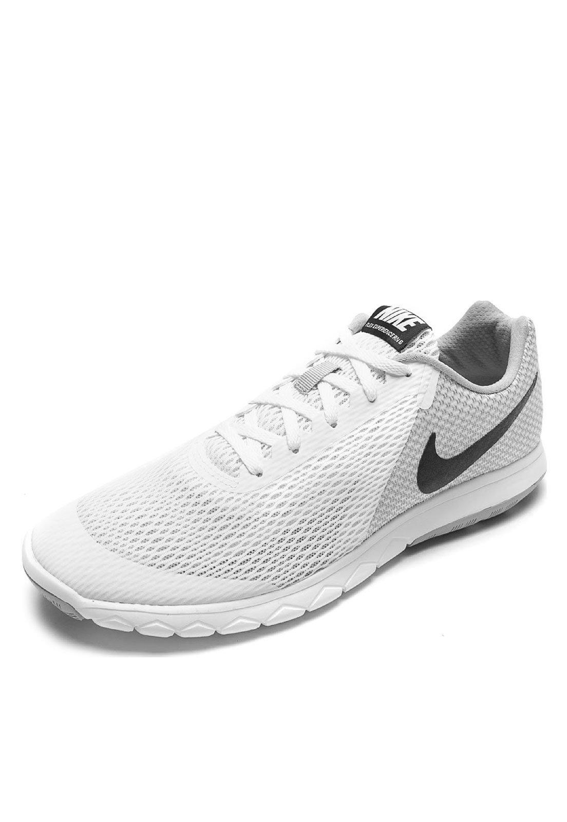 saludo Bailarín Perforar  Tênis Nike Flex Experience RN 6 Branco/Cinza - Compre Agora   Dafiti Brasil