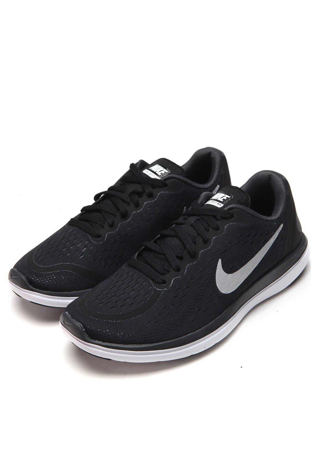 Secretario templado Perforación  Tênis Nike Flex RN 2017 (GS) Running Preto - Compre Agora | Kanui Brasil