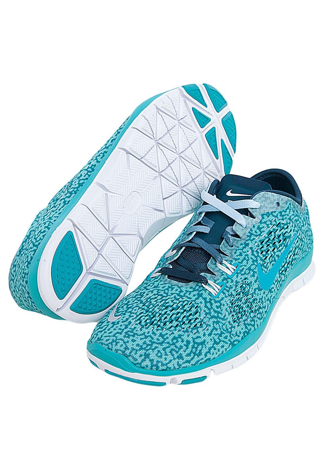 Ahorro Indígena peor  Tênis Nike WMNS Free 5.0 TR Fit 4 PRT Azul - Compre Agora | Dafiti Brasil