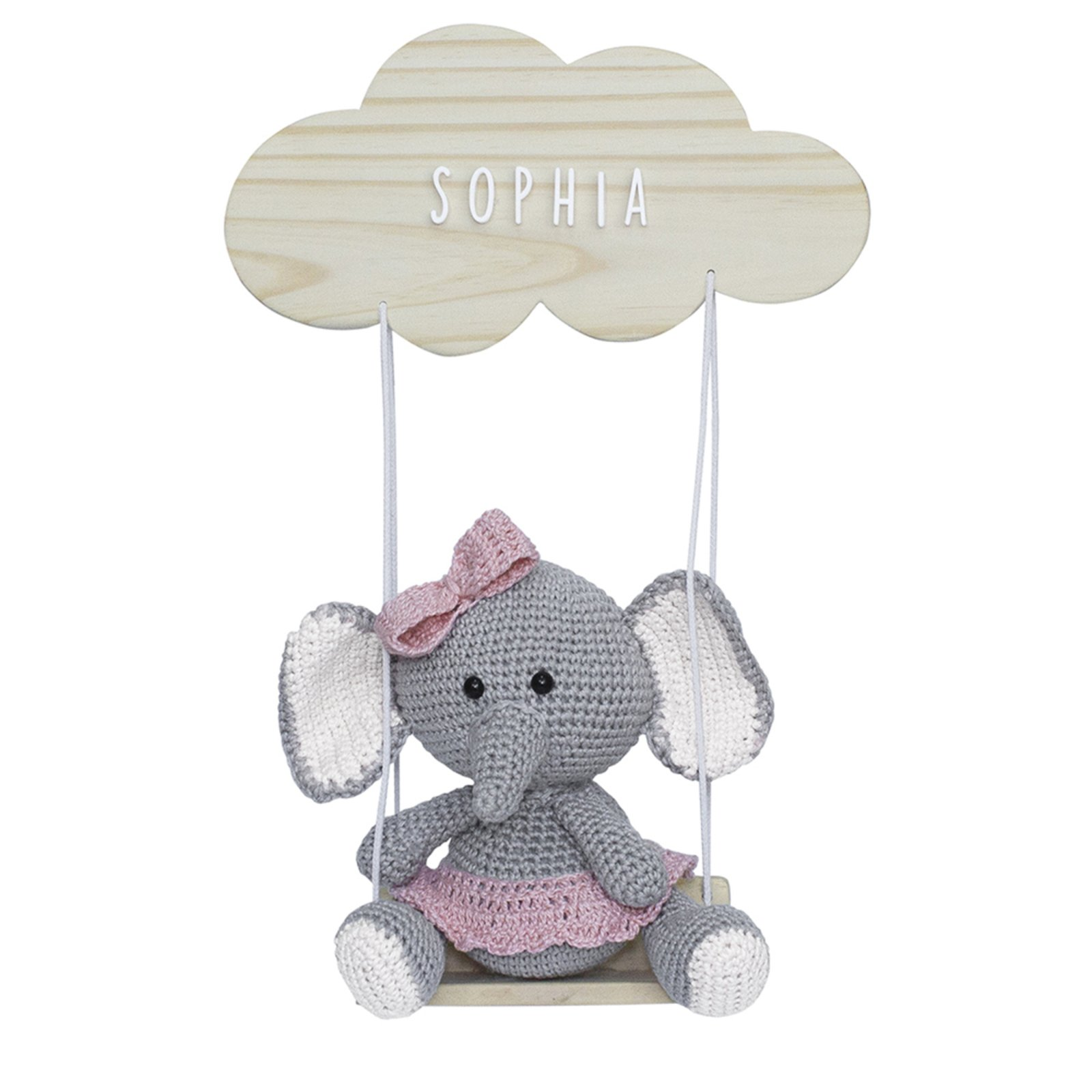 Nuvem De Crochê Rosa - Amigurumi Sob Encomenda - R$ 110,00 em ... | 1600x1600