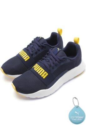 Menor preço em Tênis Puma Menino Wired Jr Azul-Marinho
