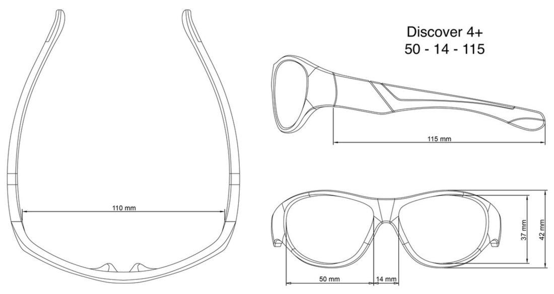Óculos de Sol Flexível Discover Vermelho e Preto Real Shades - Compre Agora