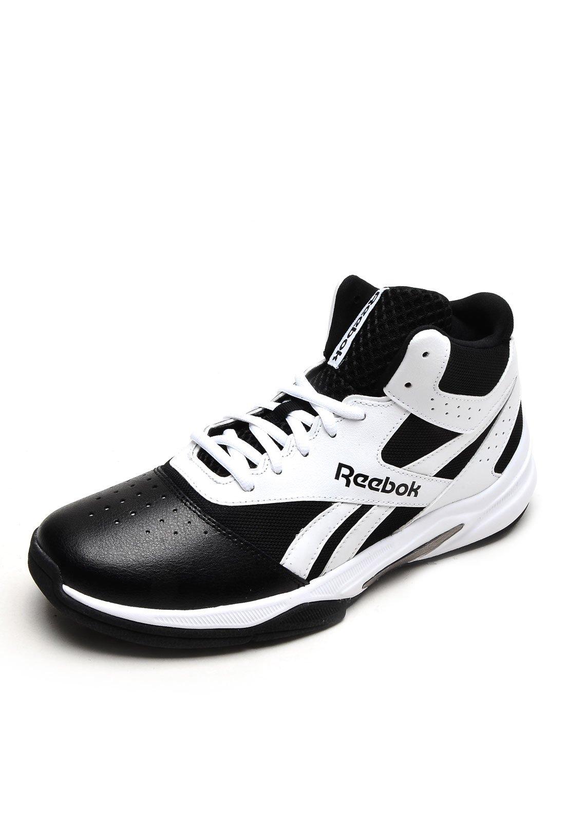 reebok classic preto e branco