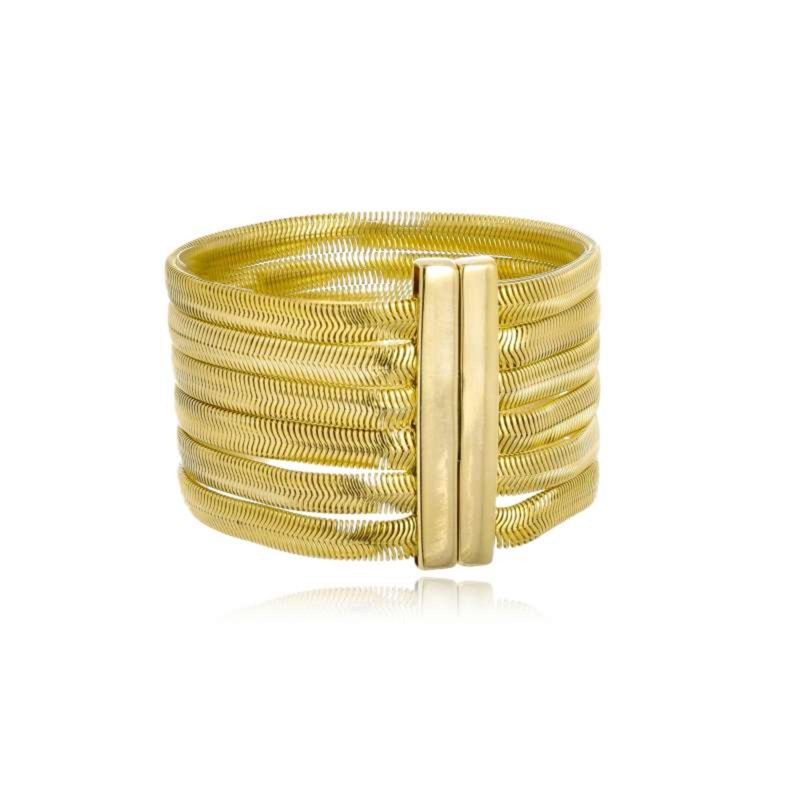 Bracelete Rincawesky Malha Dourado - Marca Rincawesky