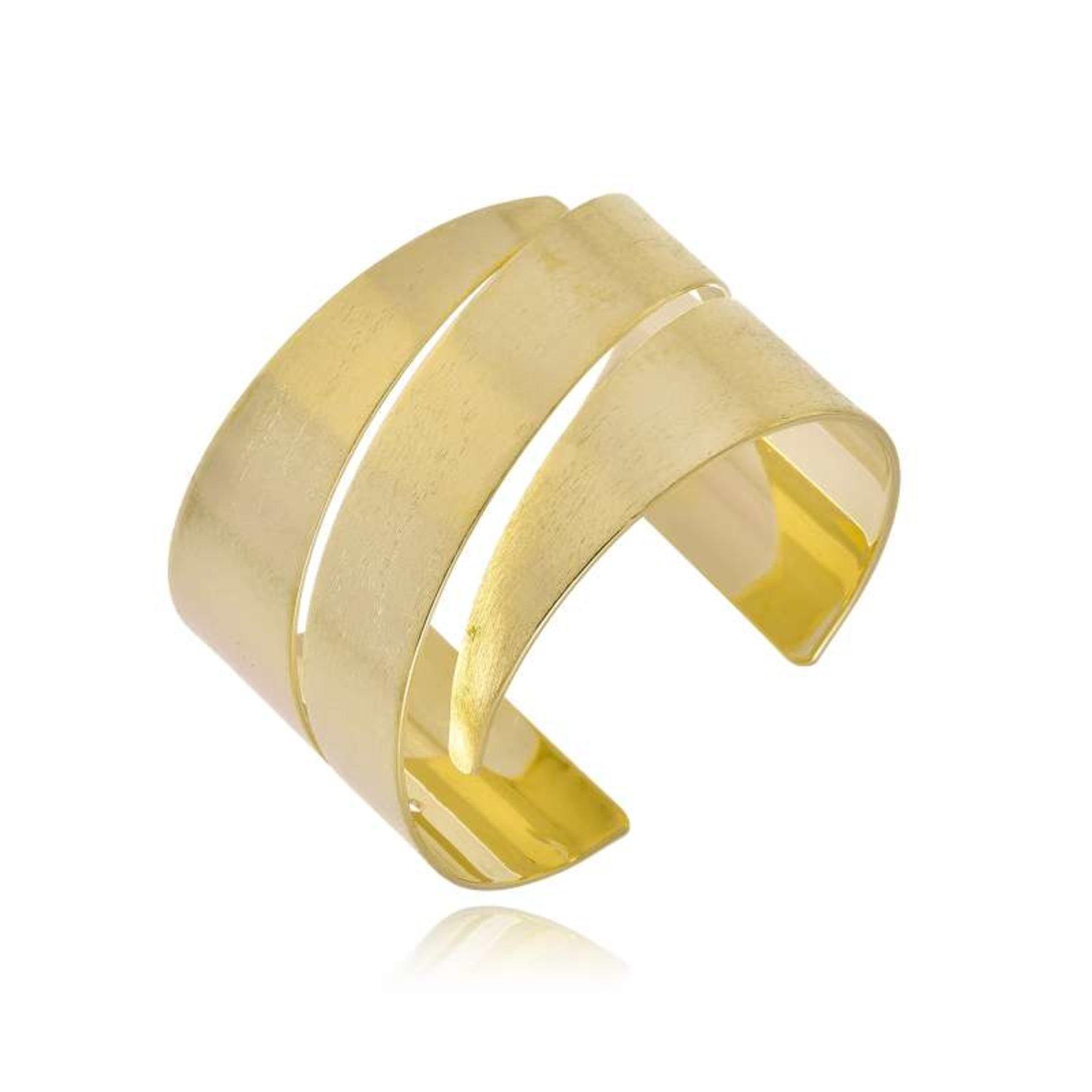 Bracelete Rincawesky Wave Três Cortes Dourado - Marca Rincawesky