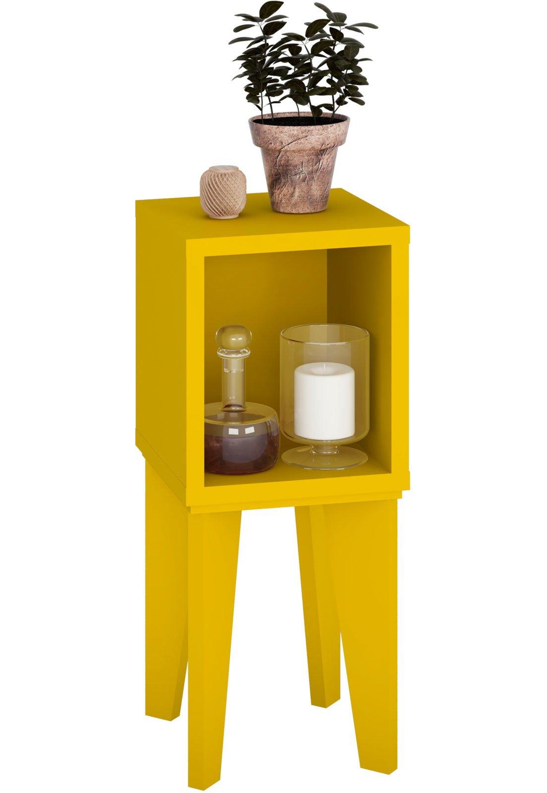 Image of: Mesa De Canto Tubi Rv Moveis Amarelo Compre Agora Dafiti Brasil